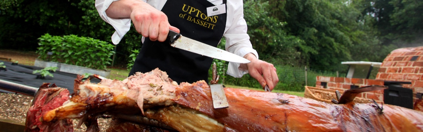 We offer a hog roast catering throughout Hampshire or a DIY self-catering option where we deliver everything to your door and you do the work.